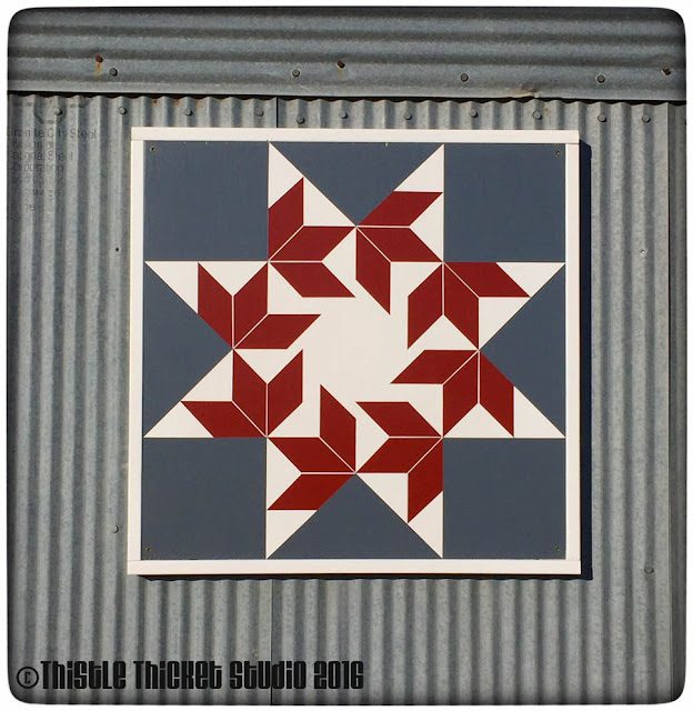 Thistle Thicket Studio, barn quilt, barn quilts, barn quilt directions, flying swallows