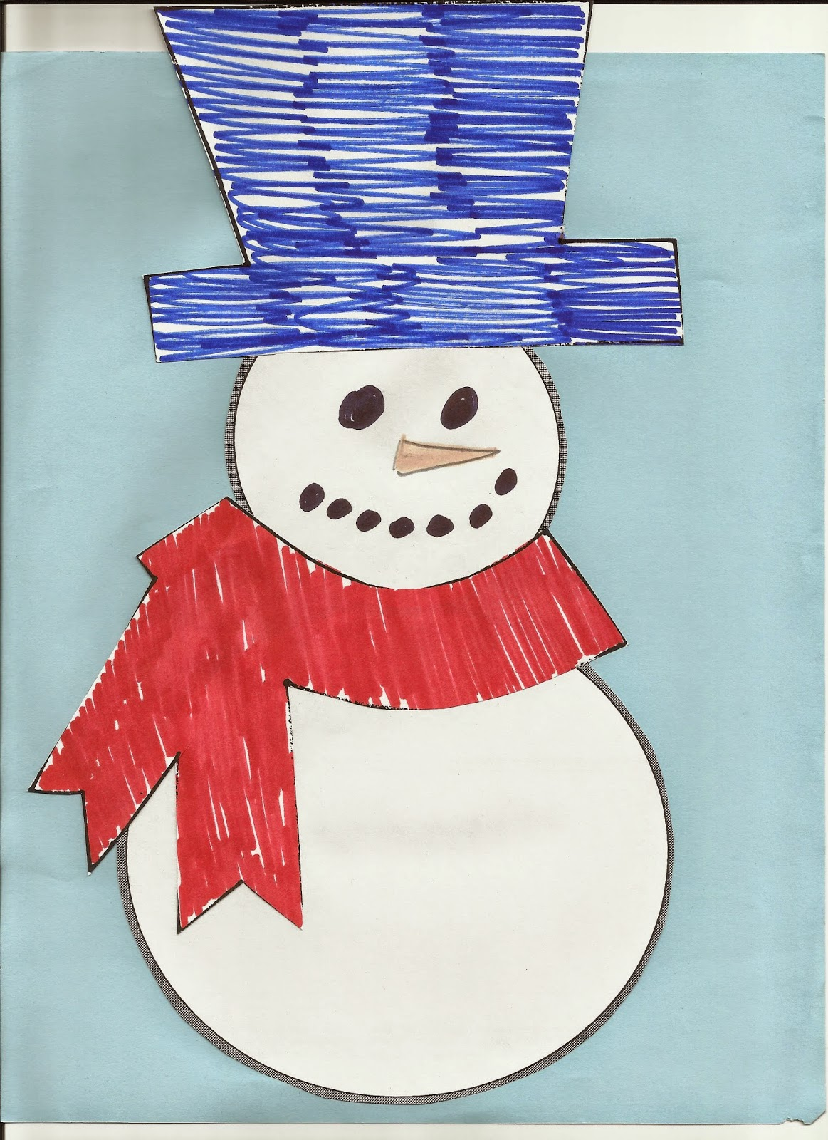 Kindergarten And Mooneyisms Quick And Easy Snowman
