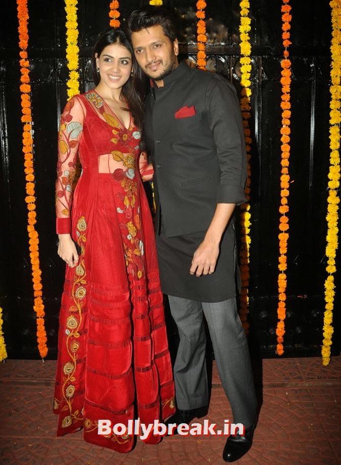 Genelia and Ritesh Deshmukh, Ekta Kapoor's Diwali bash 2013