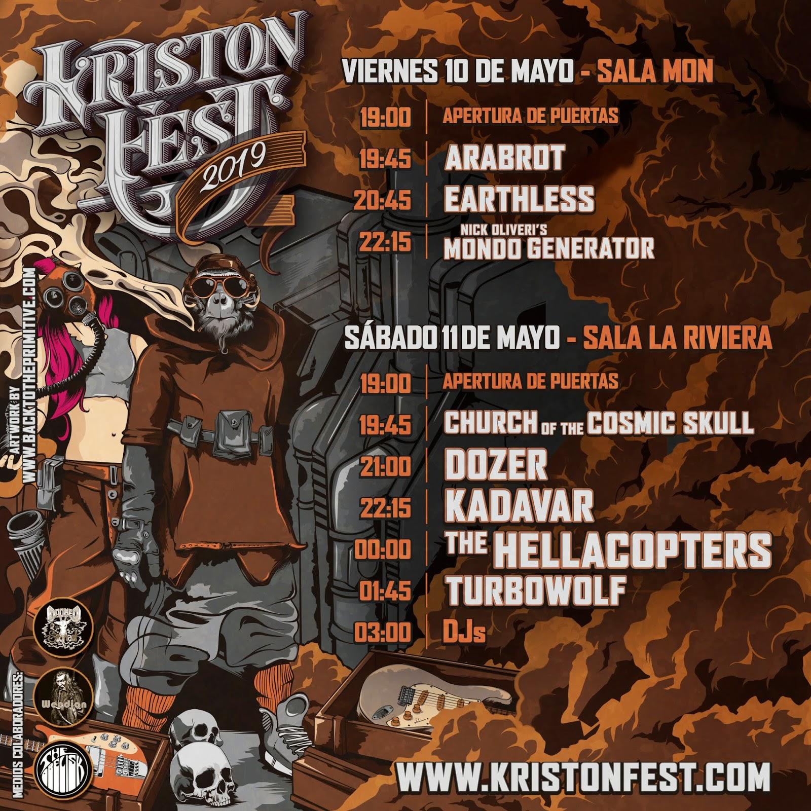 Horarios Kristonfest