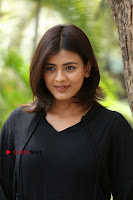 Actress Hebah Patel Stills in Black Mini Dress at Angel Movie Teaser Launch  0130.JPG