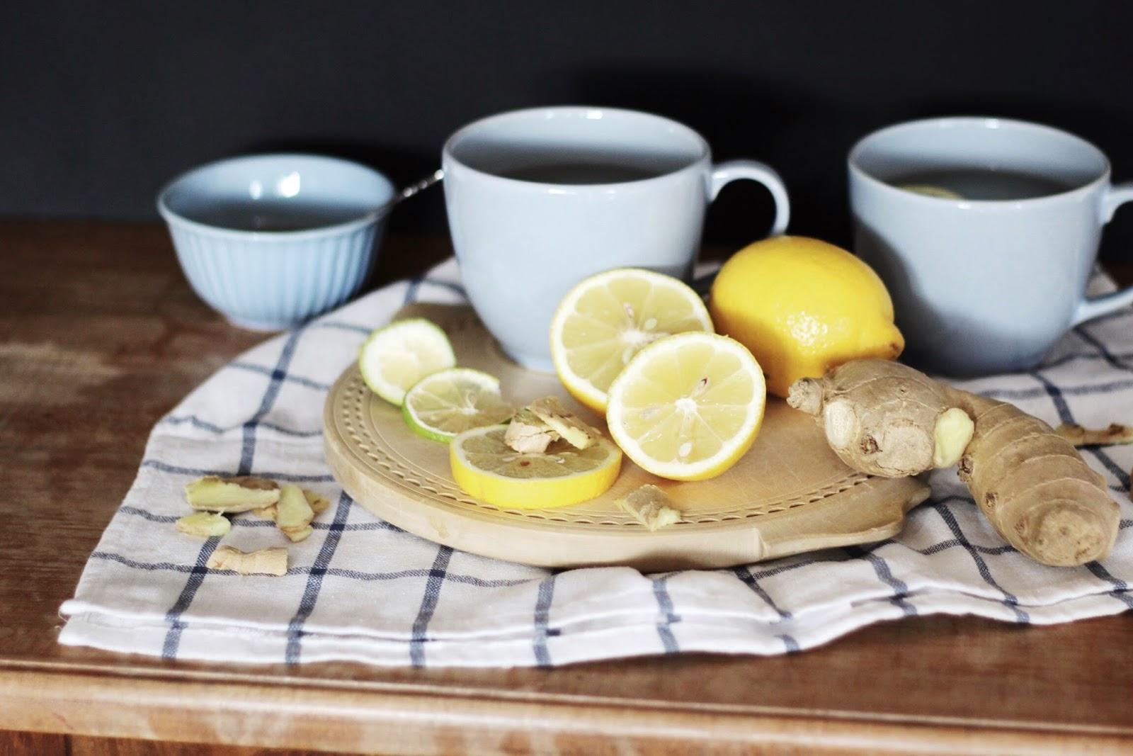 ingwer zitronen tee mit honig oder ein unschlagbares. Black Bedroom Furniture Sets. Home Design Ideas