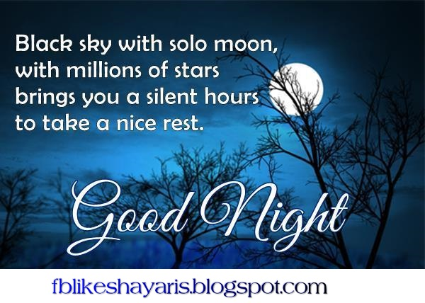 Black sky with solo moon! - Good Night Wishes
