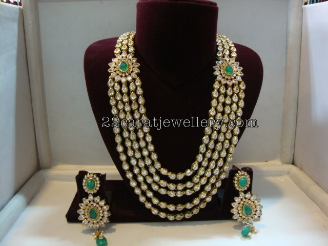 Imitation Kundan Long Set 6500rs Jewellery Designs