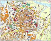 Alba Map. Piedmont, Italy.