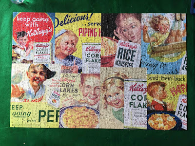Finished Kellogg's Vintage Cereal Puzzle