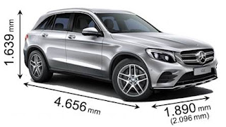 dimensioni mercedes glc coupè