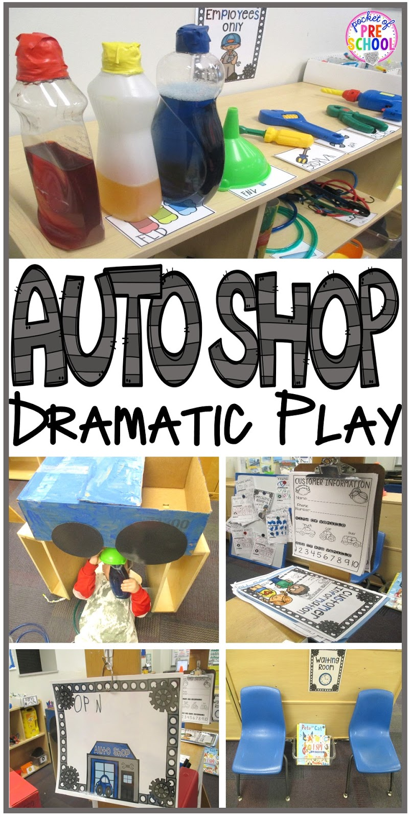 Auto Shop Dramatic Play Pocket Of Preschool