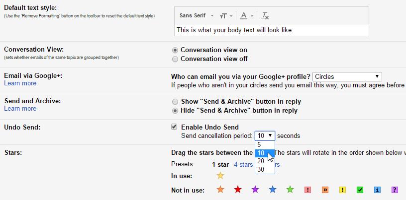 Fitur Undo Send Gmail