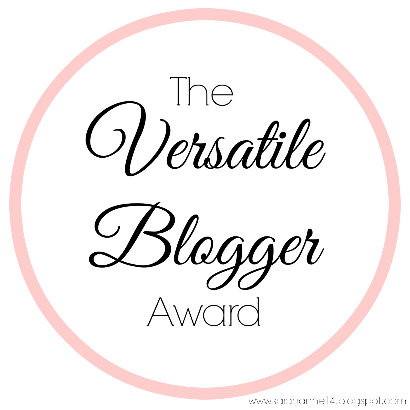 The Versatile Blogger Award #1