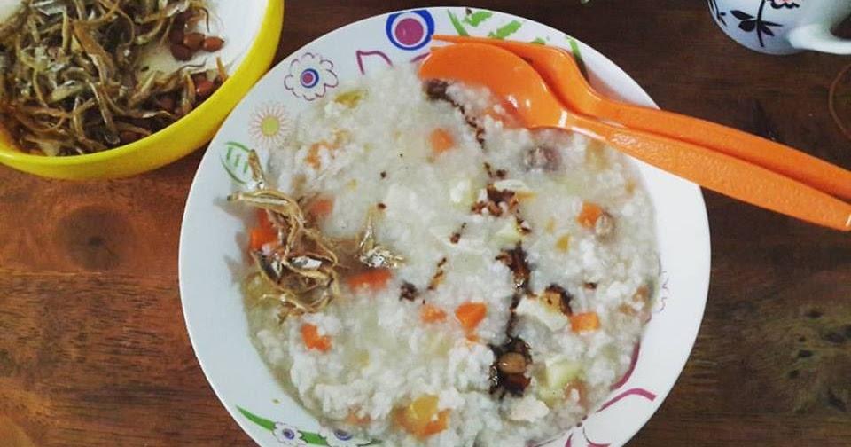 resepi bubur ayam lada hitam pewarna Resepi Bubur Kanji Ayam Enak dan Mudah