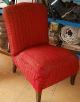 stary fotel lata 50-te