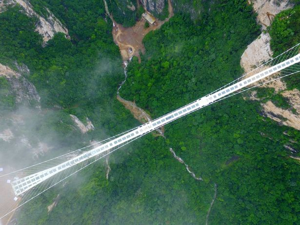 Worlds tallest and longest glass bridge