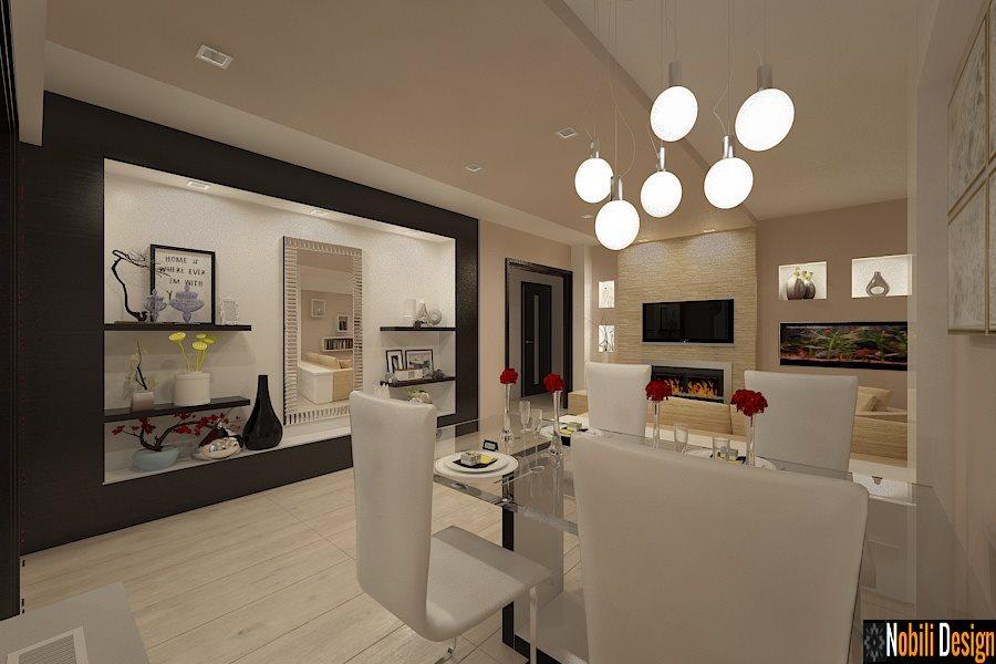 Amenajare interioara living apartament cu 4 camere in stil modern.