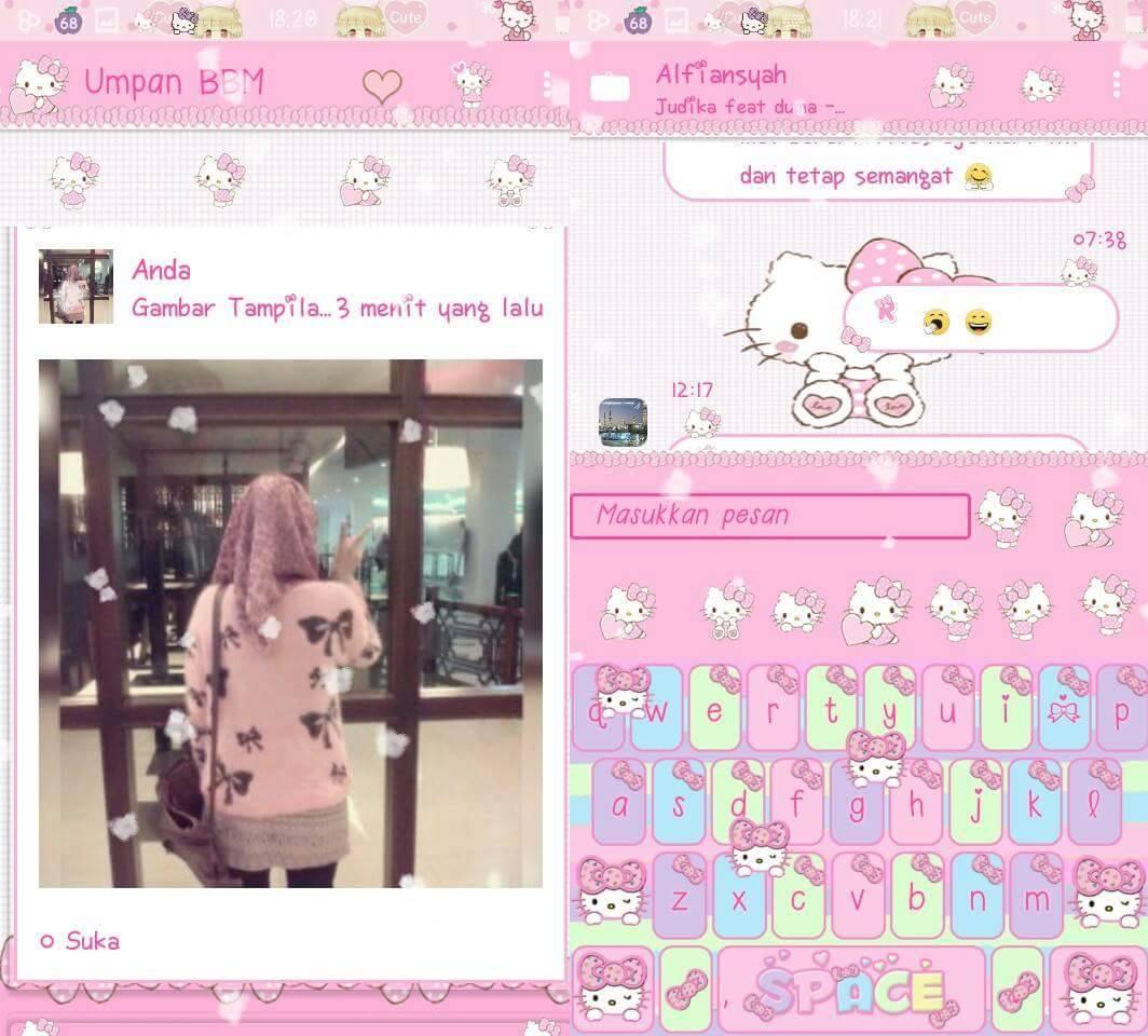 BBM Mod Pink Hello Kitty Based 33231 Apk Versi Terbaru