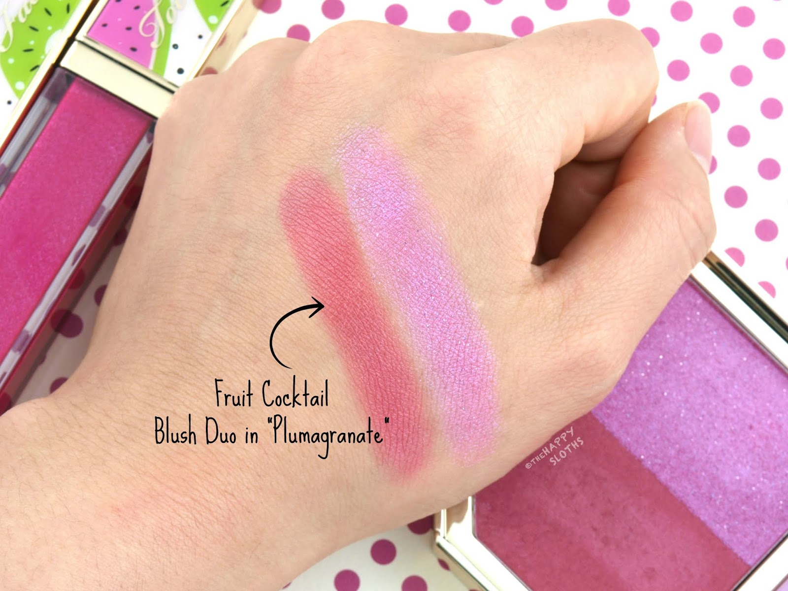 "Too Faced Tutti Frutti Collection | Fruit Cocktail Blush Duo in ""Plumagranate"": Review and Swatches"