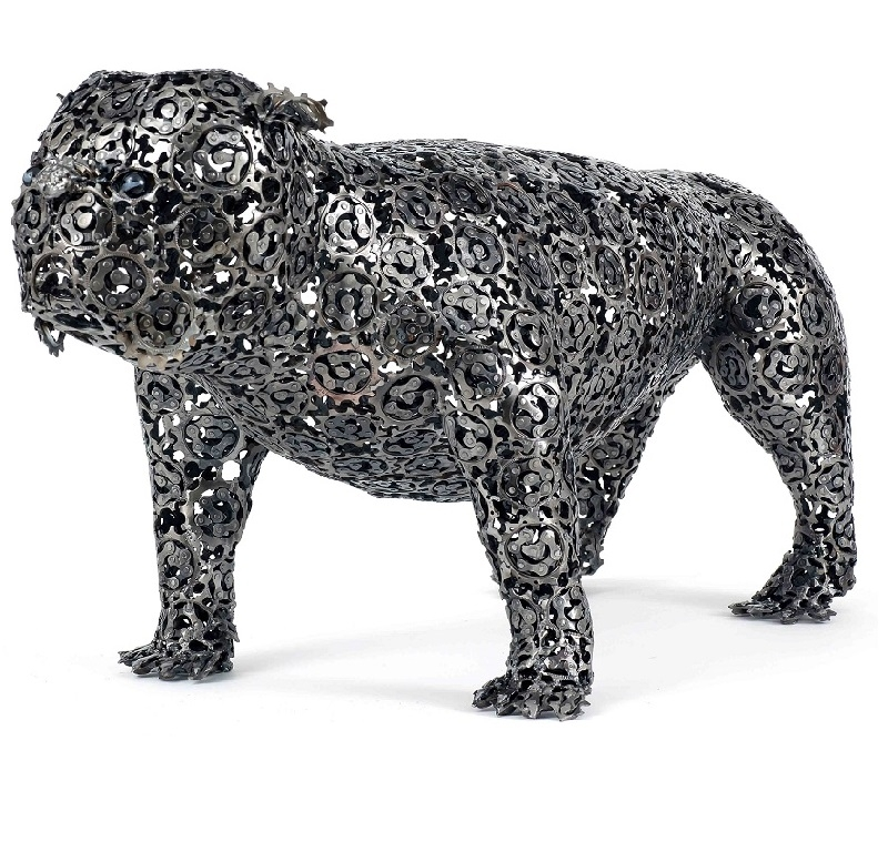 12-Lord-Maximus-Nirit-Levav-Recycled-Bicycle-Parts-used-for-Unchained-Dog-Sculptures-www-designstack-co