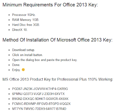 MS Office 2013 + Product Key Crack Keygen Free Download