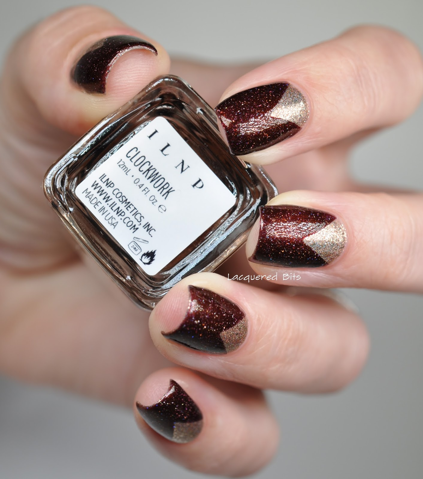 Triangled Nails Wrapped In Fall Hues - Lacquered Bits