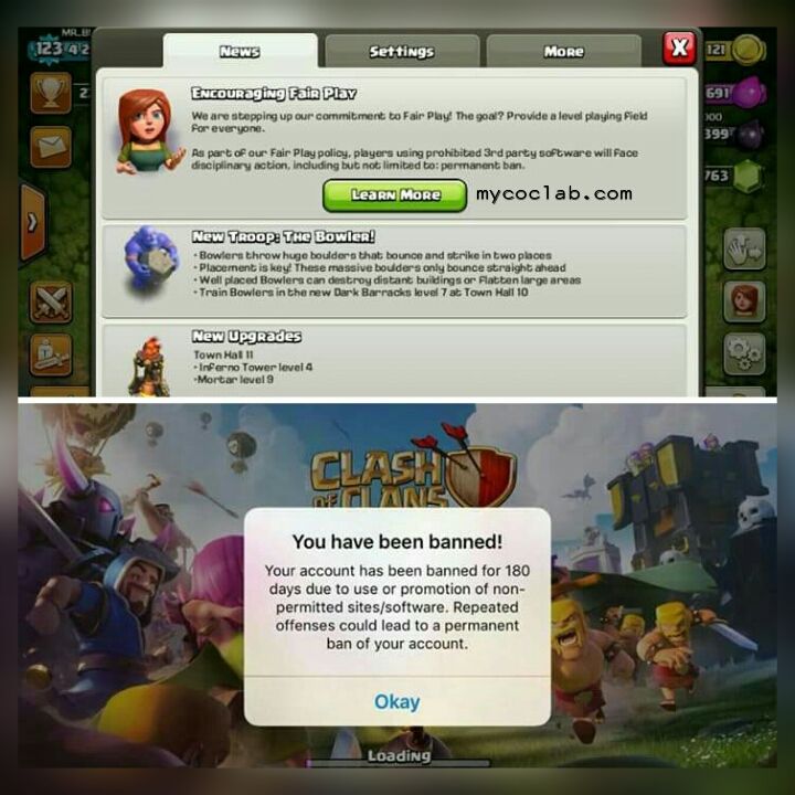 Clash of Clans Encouraging Fairplay