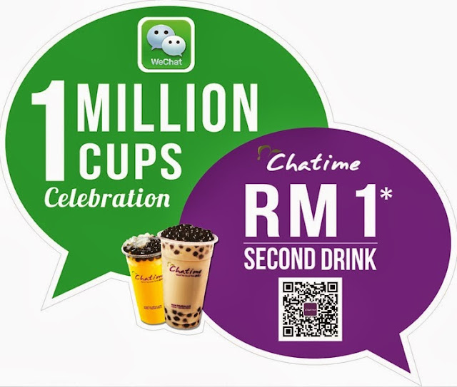 WeChatime 1 Million Cups Celebration Promotion