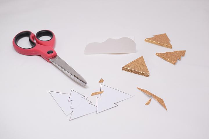 étape 1 diy facile marque places de noël en papier