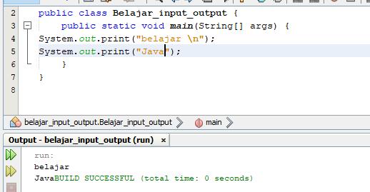 program input output java dengan print dan println