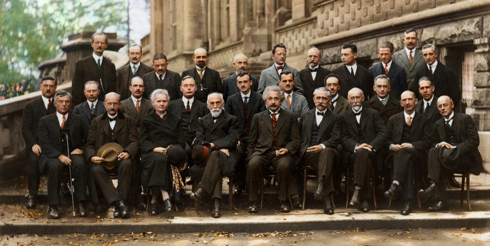 The Solvay Conference (colorized version).