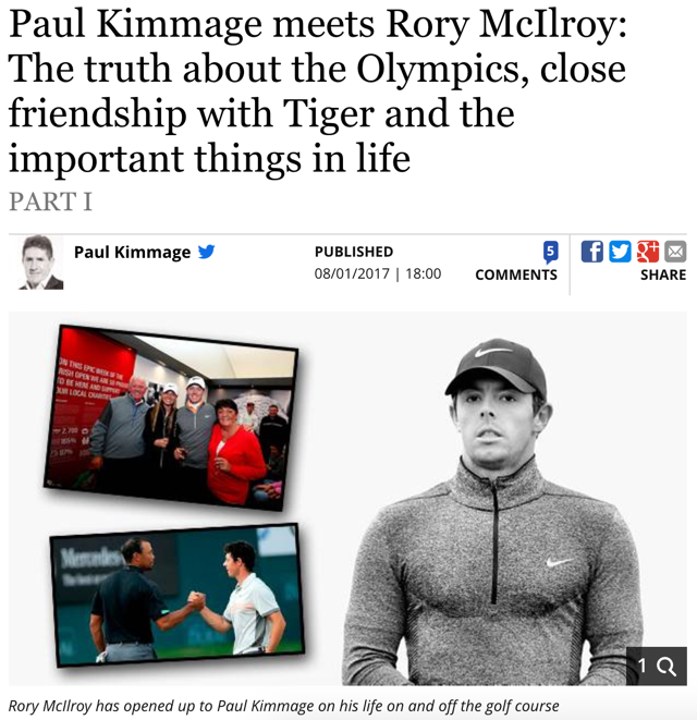 Rory McIlroy Paul Kimmage Interview