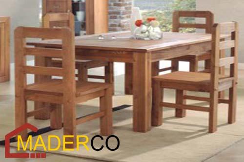 sillas de madera para restaurante ~ MADERCO PERU