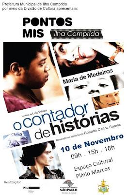 """PONTOS MIS, CINEMA NA ILHA, APRESENTA """"O CONTADOR DE HISTÓRIAS"""" NA SEXTA 10/11"""