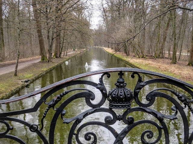 Business Trip to Munich - canal on the grounds of Schloss Nymphenburg