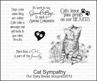 "Our Daily Bread designs ""Cat Sympathy"""