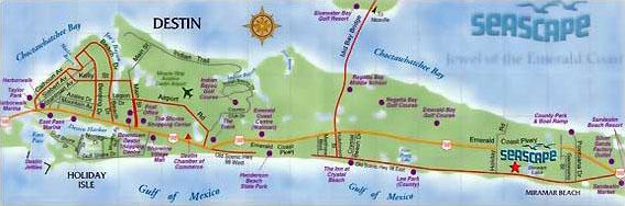 Florida Real Estate Blog: Destin Florida Map
