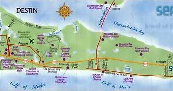 Destin Florida Map Hotels | Verkuilenschaaij