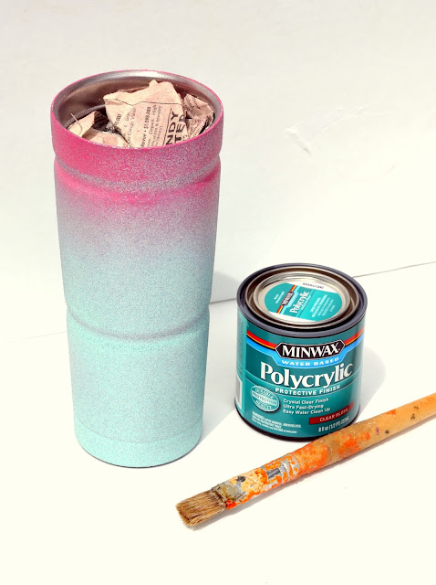 sealing your glitter yeti cup