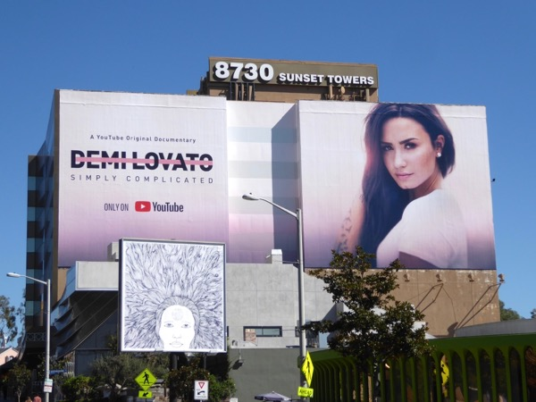 Demi Lovato Simply Complicated YouTube documentary billboard