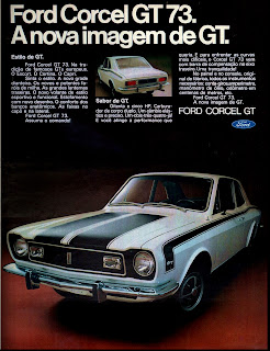 propaganda Ford Corcel GT ano 73 - 1972; 1972; brazilian advertising cars in the 70s; os anos 70; história da década de 70; Brazil in the 70s; propaganda carros anos 70; Oswaldo Hernandez;