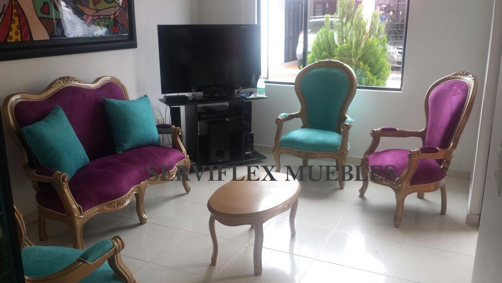 Sillas sof s y salas isabelinas for Isabelinas modernas