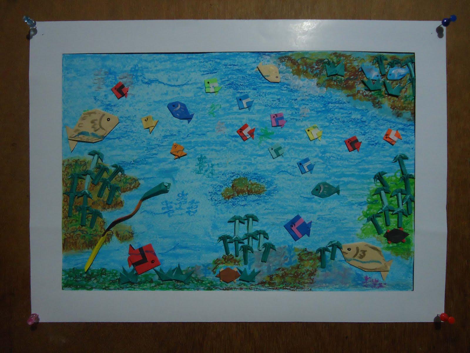 Lukisan Origami By Dini Dasar Laut