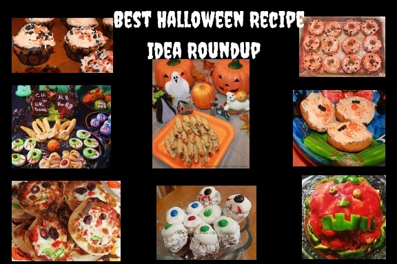 here is all you Halloween party needs all in one great article. These recipes are all fun for your Halloween party needs. The assortment includes Halloween meatloaf, Halloween eyeballs, Halloween deviled eggs, witches fingers, witches broom, cupcakes, donuts, cookies, english muffin ghoulish pizzas and much more