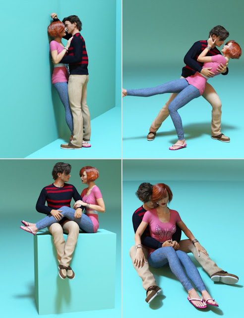 Honeymoon Poses for Genesis 3 Female and Male