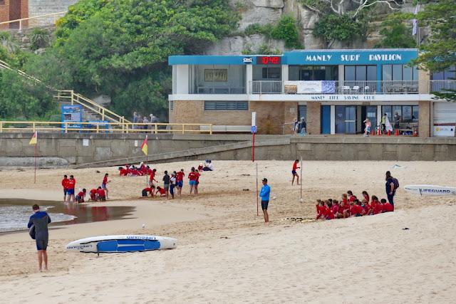 Manly, Beach, Rettungsschwimmer, Lifeguards, Nachwuchs, Meer, Strand