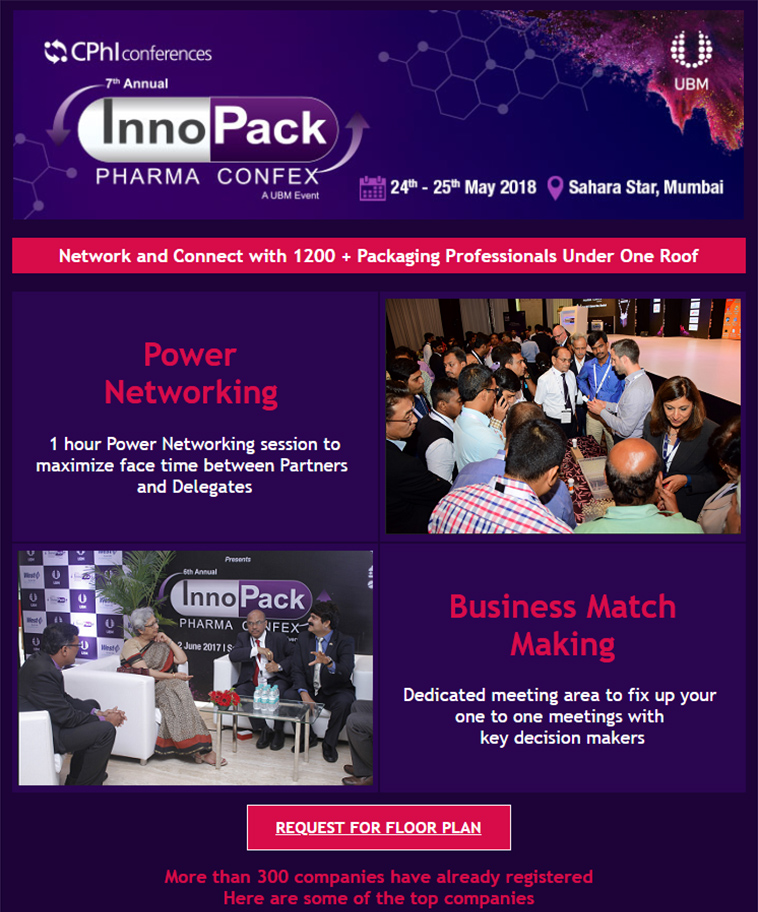7th Annual InnoPack Pharma Confex 2018