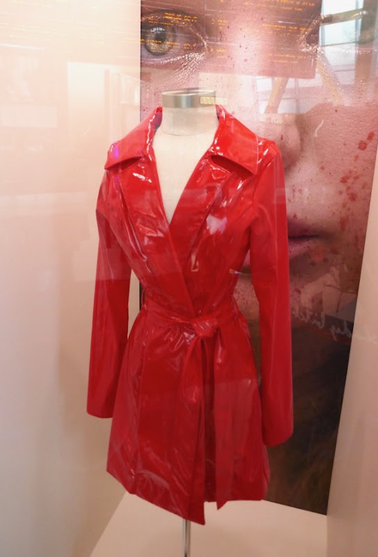 Odessa Young Assassination Nation Lily PVC trench