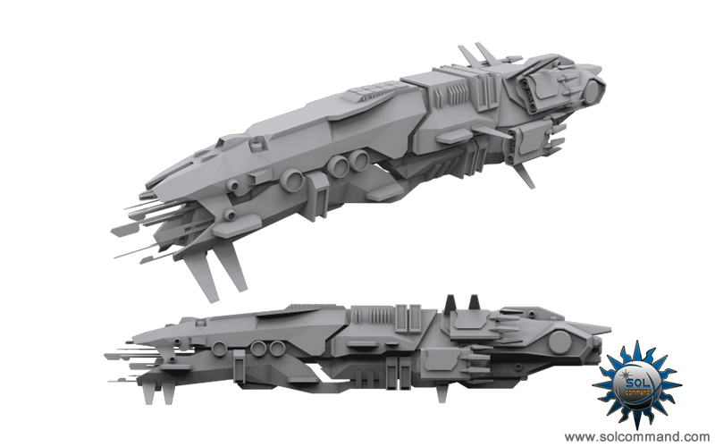 Cocindril destroyer space ship spacecraft frigate battleship futuristic scifi concept art 3d model solcommand game patrol vessel lawless military police defense fleet