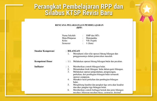 Perangkat Pembelajaran RPP dan Silabus KTSP Revisi Baru