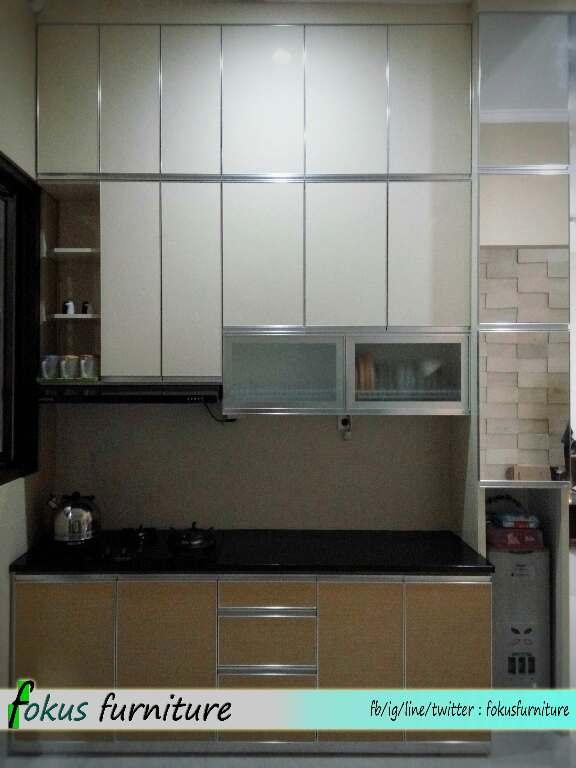 Furniture kitchen set minimalis lemari pakaian jakarta for Kitchen set aluminium sederhana