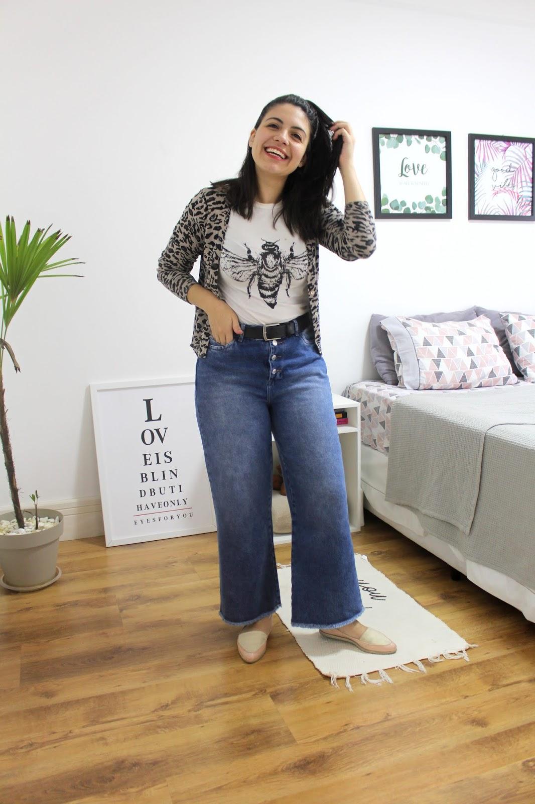1peça3look looks com pantalona jeans c&a anadodia ana do dia guarda-roupa inteligente