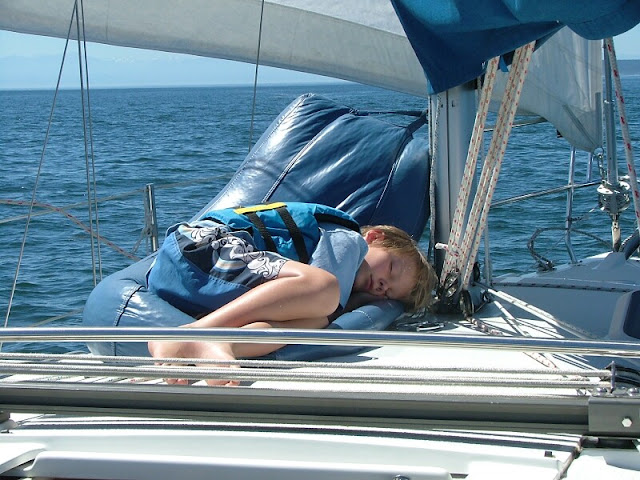 Sailing the San Juans and bean bag chair